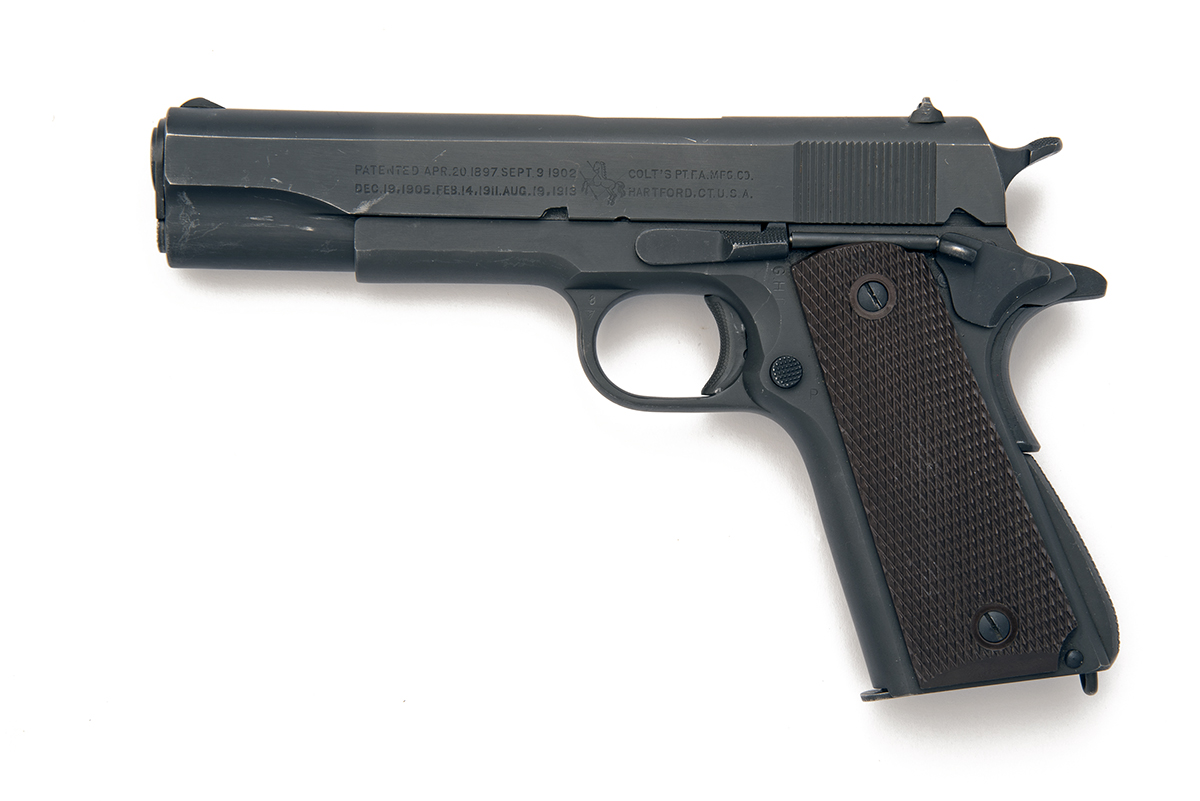 COLT, USA A GOOD .45 (ACP) SEMI-AUTOMATIC SERVICE-PISTOL, MODEL '1911A1', serial no. 1191155, for - Image 2 of 2