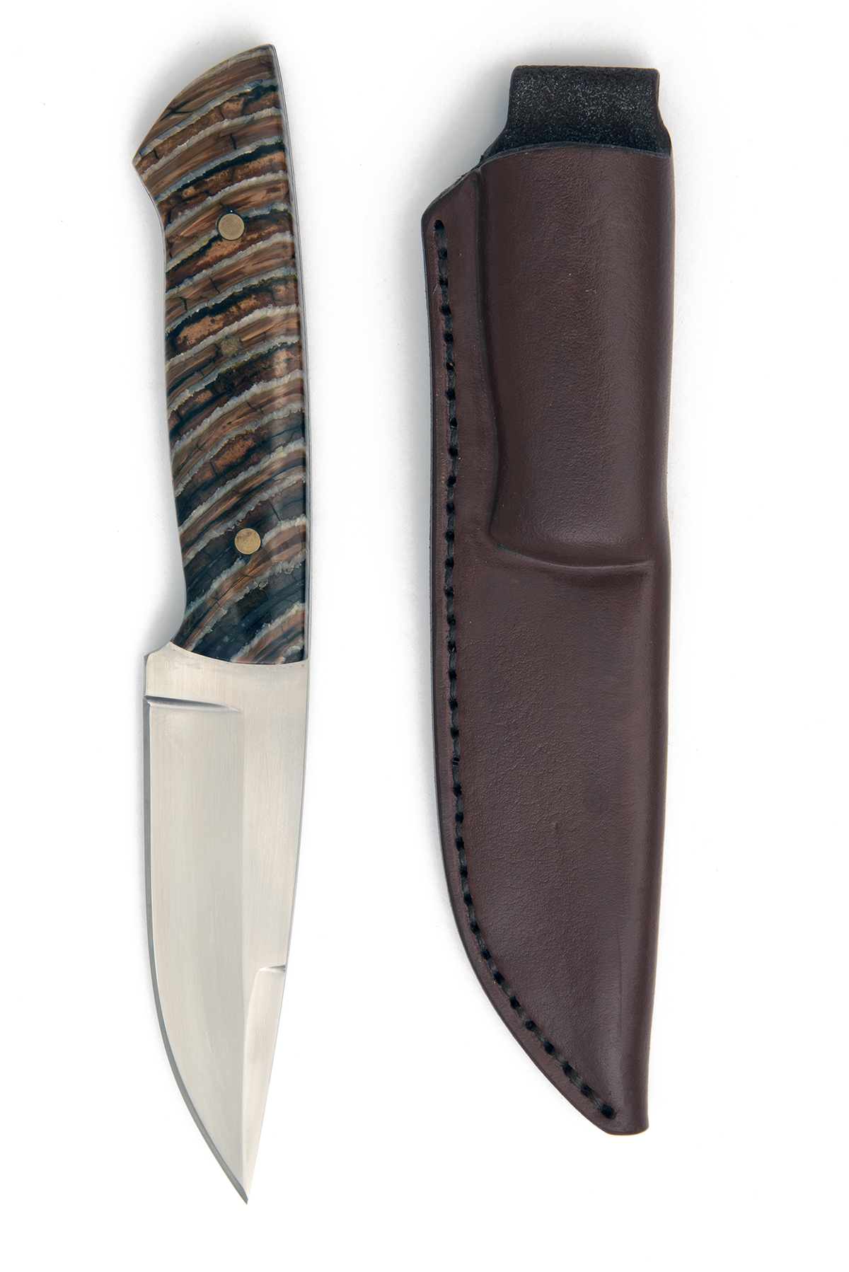 JAN-ERIC SODERHOLM, FINLAND A FINE SPORTING-KNIFE WITH FOSSILISED MAMMOTH-TOOTH HILT, recent, with