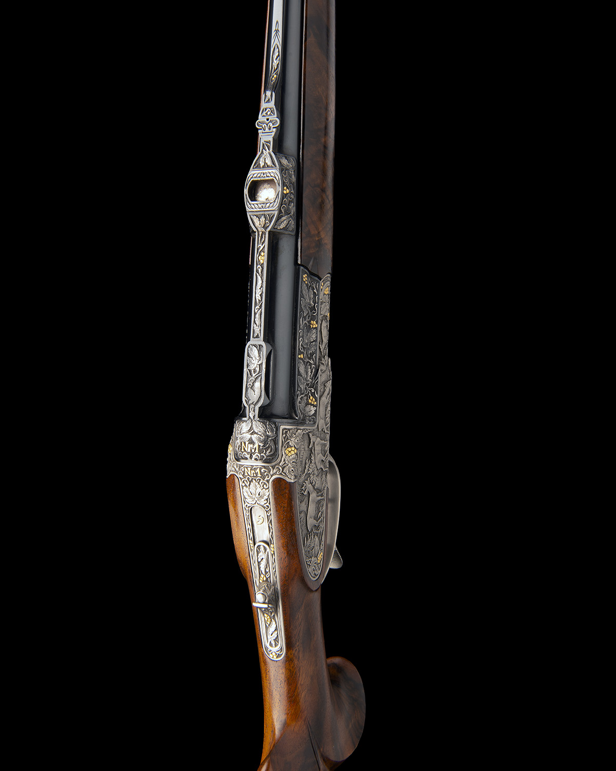 H. SCHEIRING AN 8X57RS / 5.6X50R MAG. JAEGER PATENT SIDEPLATED OVER AND UNDER PUSH-FORWARD - Image 6 of 12
