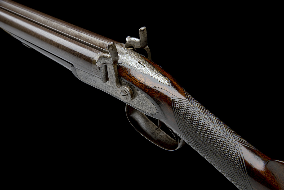 THOMAS BOSS, LONDON A 16-BORE PERCUSSION DOUBLE-BARRELLED SPORTING-GUN, serial no. 605, for 1844, - Image 5 of 8