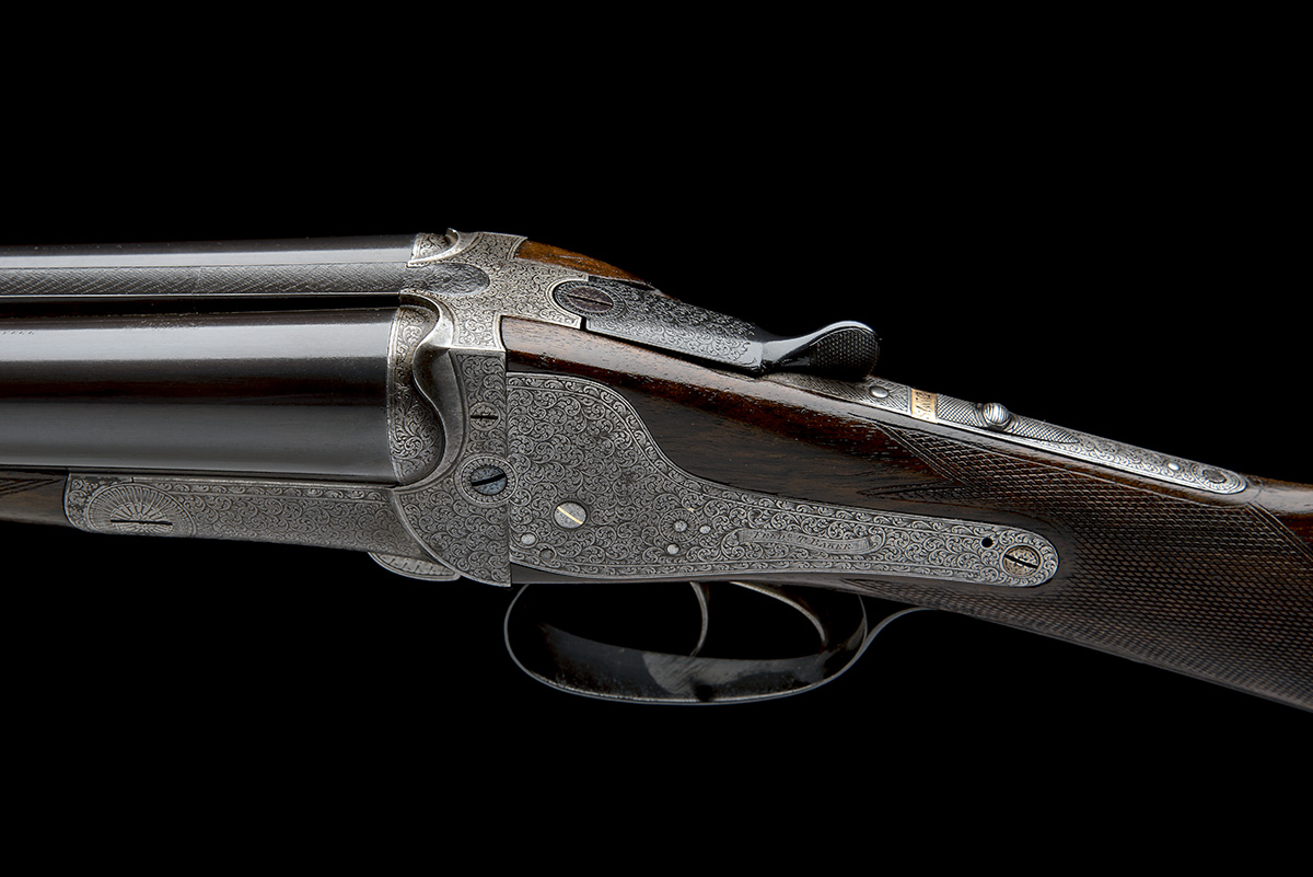 FREDc. T. BAKER A 12-BORE NEEDHAM 1874 PATENT HAMMERLESS SIDELOCK EJECTOR, serial no. 6749, circa - Image 4 of 11