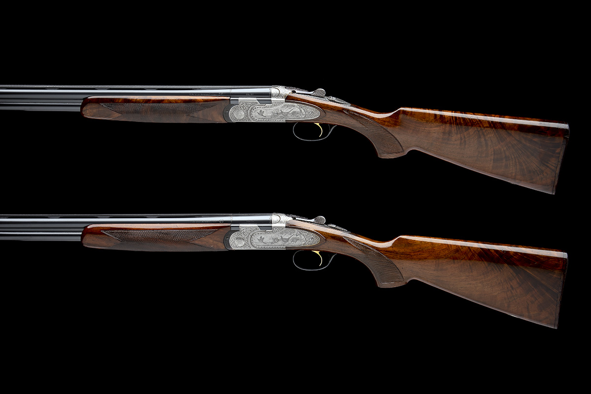 P. BERETTA A PAIR OF 20-BORE 'MOD. 687 EELL' SINGLE-TRIGGER OVER AND UNDER EJECTORS, serial no. - Image 2 of 10