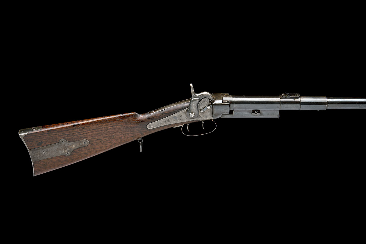 MASSACHUSETTS ARMS, USA A .54 CAPPING BREECH-LOADING CARBINE, MODEL 'GREENE'S PATENT BRITISH ISSUE', - Image 2 of 8