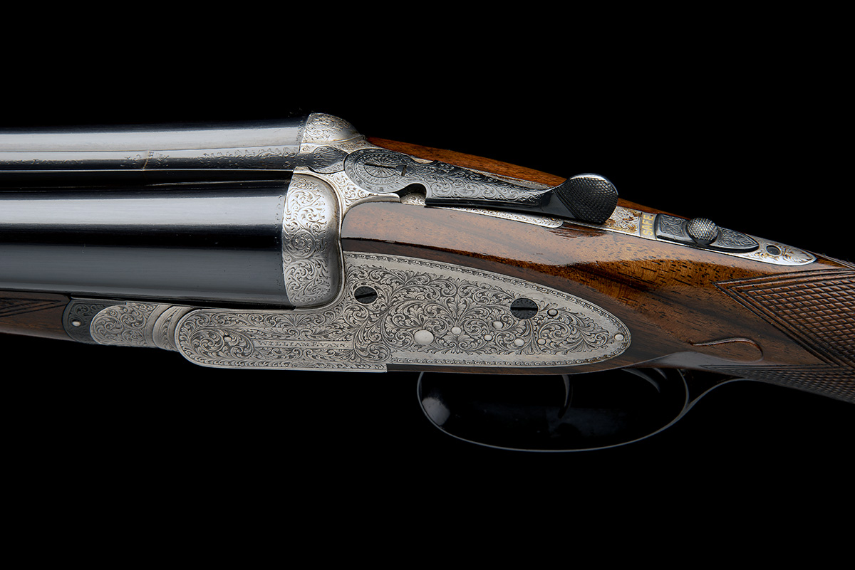 WILLIAM EVANS A 12-BORE SIDELOCK EJECTOR, serial no. 11547, for 1916, 28in. nitro barrels, the rib - Image 4 of 12