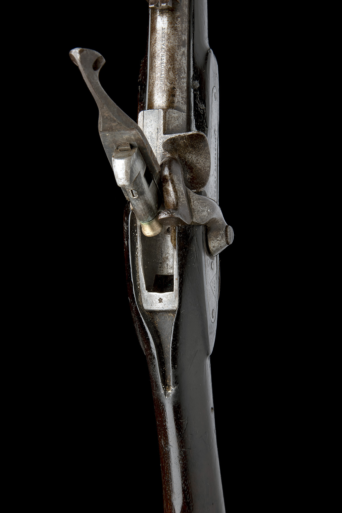WESTLEY RICHARDS, BIRMINGHAM A .450 PERCUSSION BREECH-LOADING CARBINE, MODEL 'MONKEY-TAIL', serial - Image 5 of 9