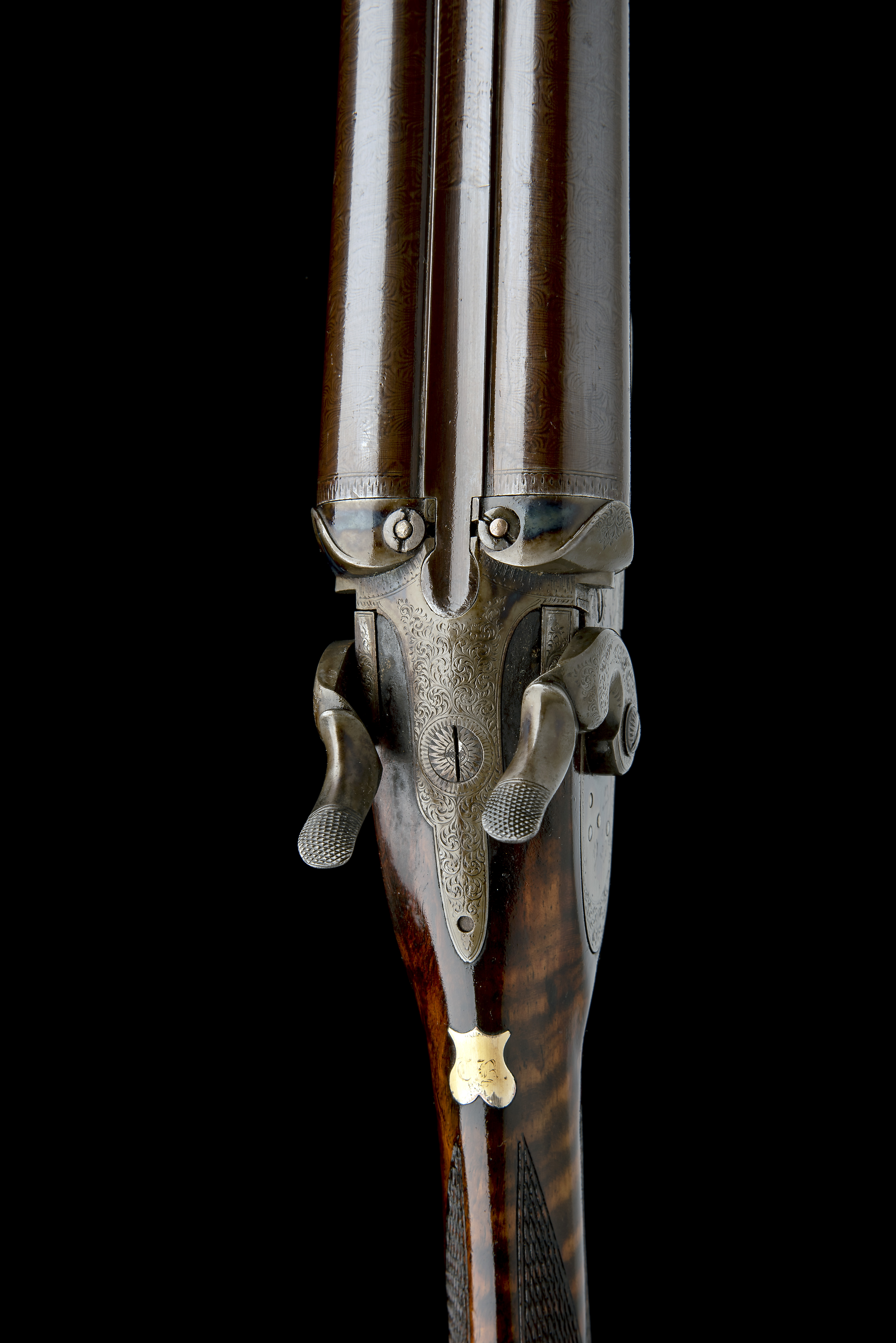 JOHN HANSON A SCARCE 12-BORE 1868 PATENT SLIDING GUARD HAMMERGUN, serial no. 731, circa 1870, - Image 4 of 9