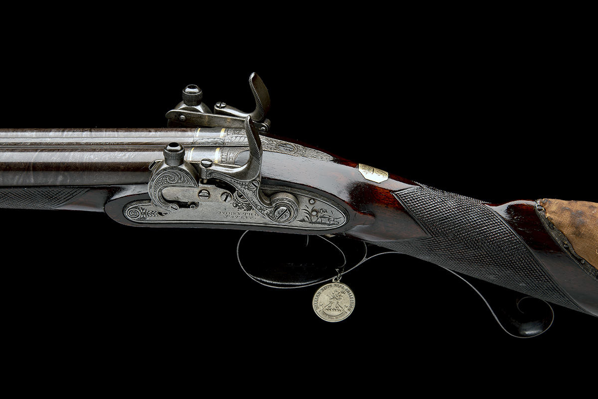 EX W. KEITH NEAL: FORSYTH & CO., LONDON AN EXCEEDINGLY RARE 19-BORE SELF-PRIMING SPORTING GUN, - Image 18 of 21