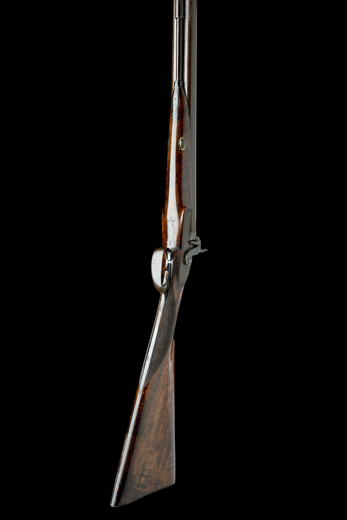 T.K. BAKER, LONDON A 10-BORE PERCUSSION DOUBLE-BARRELLED SPORTING-GUN, no visible serial number, - Image 5 of 8