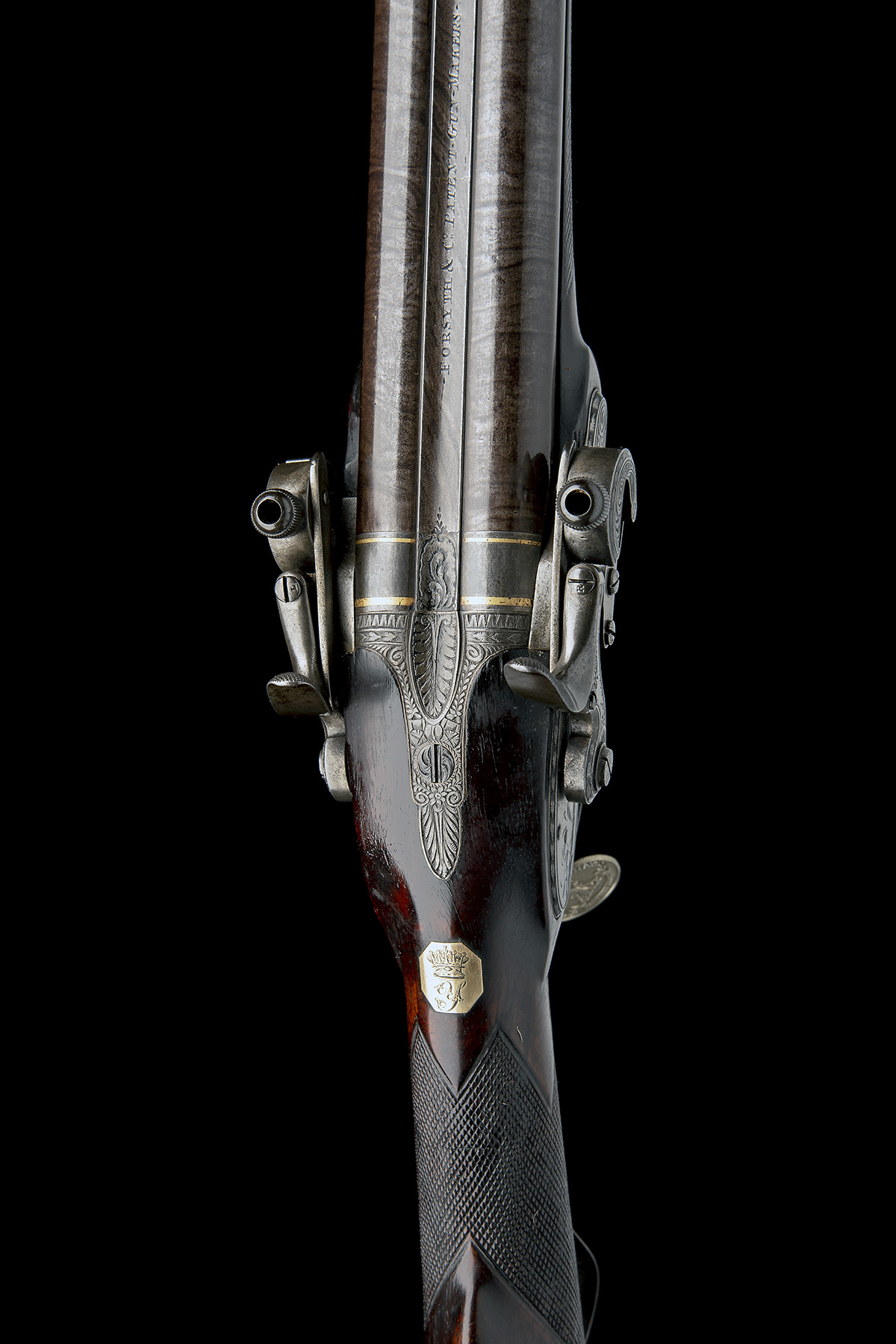 EX W. KEITH NEAL: FORSYTH & CO., LONDON AN EXCEEDINGLY RARE 19-BORE SELF-PRIMING SPORTING GUN, - Image 16 of 21