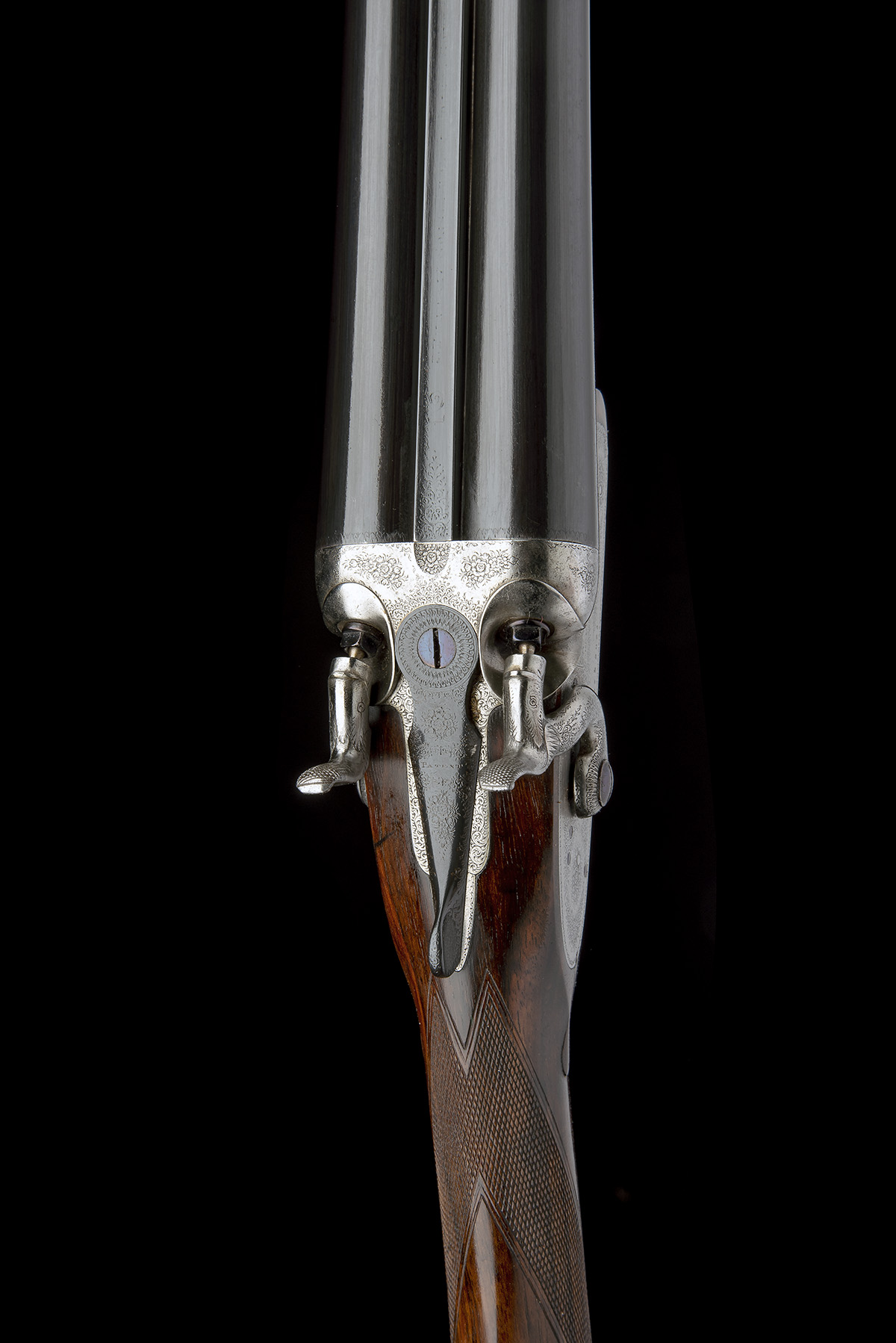 J. PURDEY & SONS A 12-BORE BAR-IN-WOOD TOPLEVER HAMMERGUN, serial no. 11619, circa 1883, 30in. nitro - Image 4 of 7