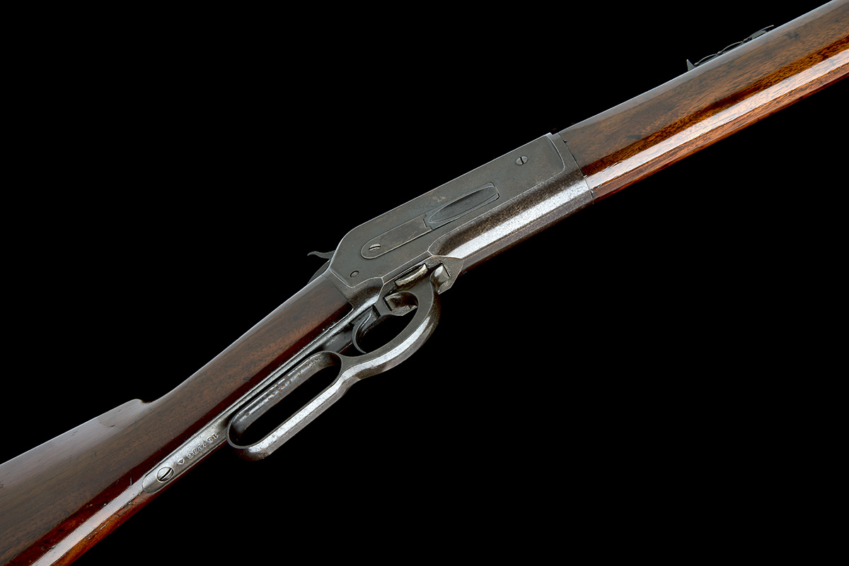 WINCHESTER REPEATING ARMS, USA A 50-110 (WCF) LEVER-ACTION SPORTING-RIFLE, MODEL 'ENGLISH MODEL - Image 3 of 9