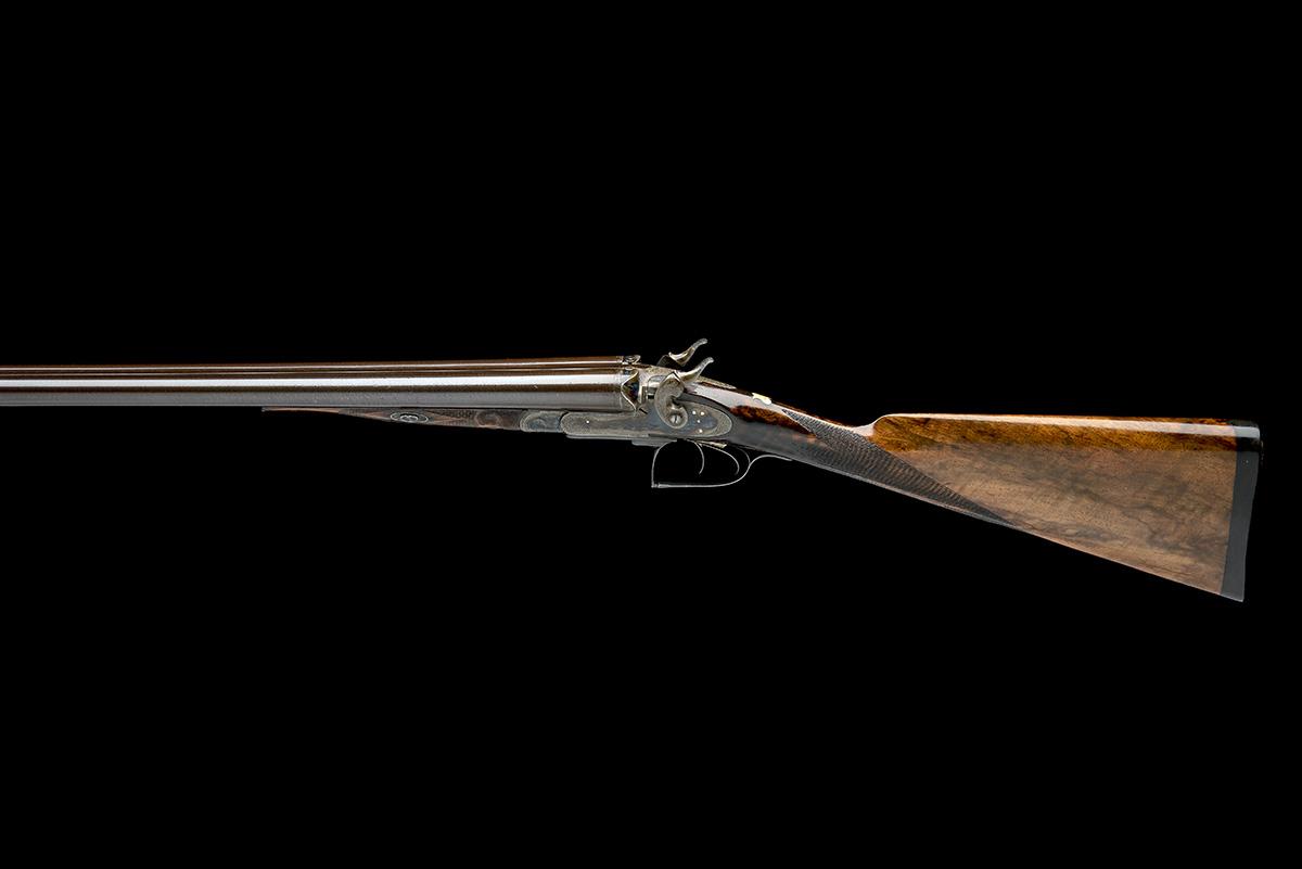 JOHN HANSON A SCARCE 12-BORE 1868 PATENT SLIDING GUARD HAMMERGUN, serial no. 731, circa 1870, - Image 2 of 9