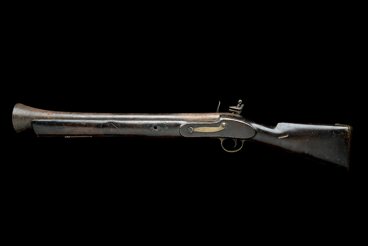 COOPER & GOODMAN, BIRMINGHAM A SUBSTANTIAL 10-BORE FLINTLOCK IRON-BARRELLED BLUNDERBUSS, no - Image 2 of 5