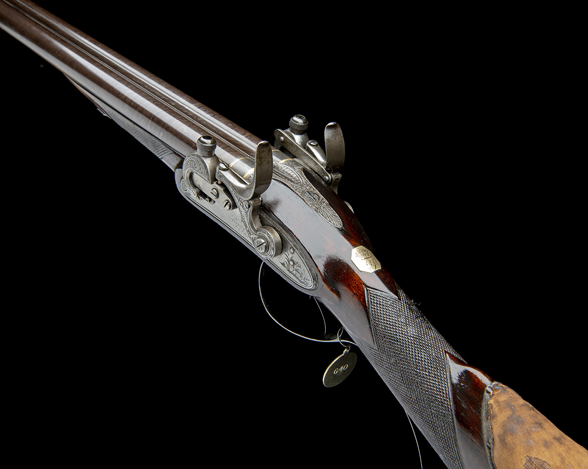EX W. KEITH NEAL: FORSYTH & CO., LONDON AN EXCEEDINGLY RARE 19-BORE SELF-PRIMING SPORTING GUN, - Image 9 of 21