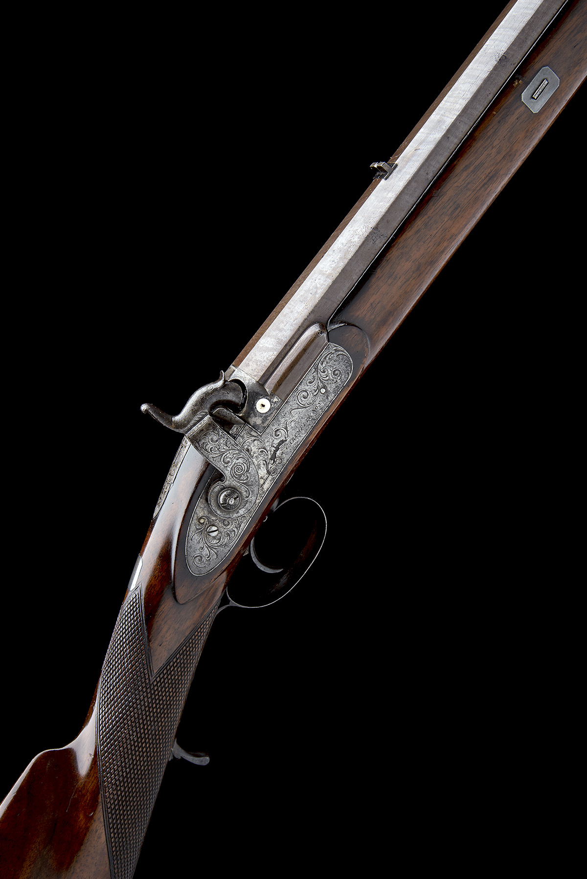 CARTMELL & SON, DONCASTER A GOOD 16-BORE PERCUSSION SINGLE-BARRELLED SPORTING-RIFLE, serial no.