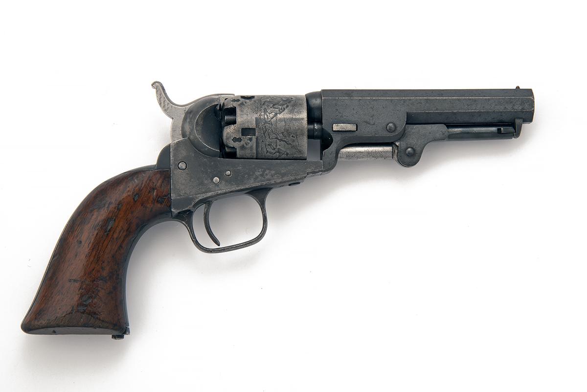 COLT, LONDON A .31 PERCUSSION FIVE-SHOT REVOLVER, MODEL 'COLT'S LONDON POCKET', serial no. 3237, for