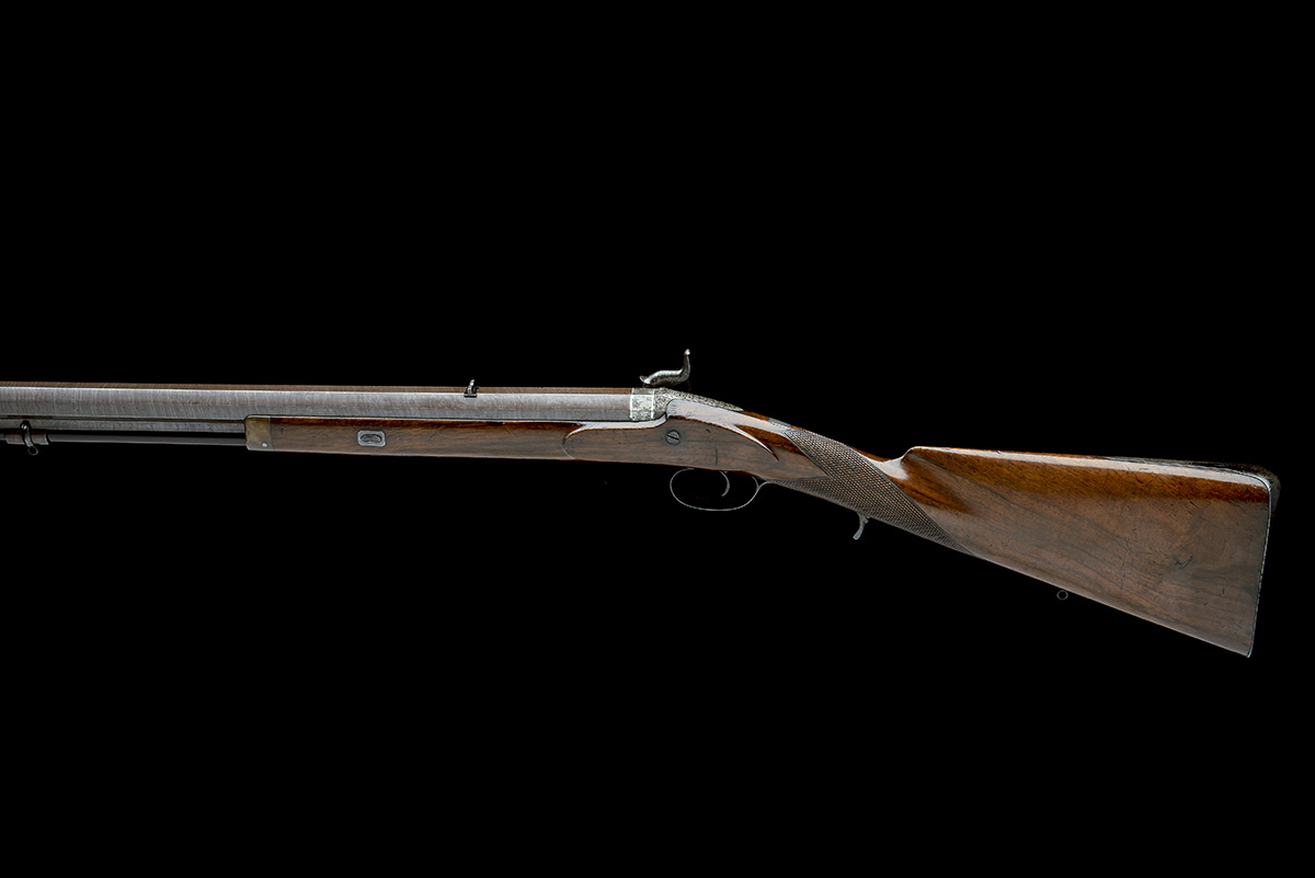 CARTMELL & SON, DONCASTER A GOOD 16-BORE PERCUSSION SINGLE-BARRELLED SPORTING-RIFLE, serial no. - Image 2 of 8