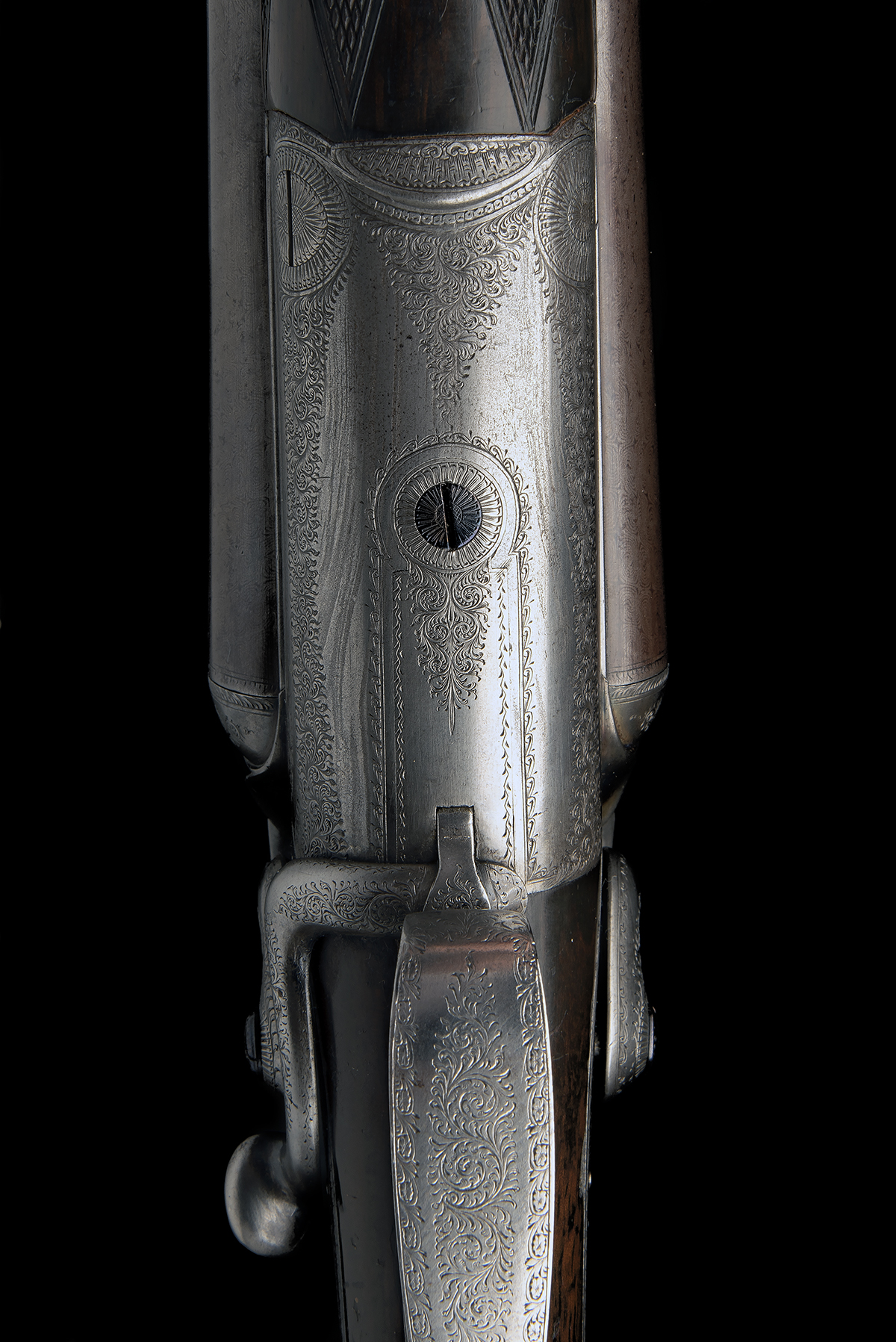 STEPHEN GRANT A 12-BORE 1871 PATENT SIDELEVER HAMMERGUN, serial no. 4419, for 1875, 30in. nitro - Image 5 of 8