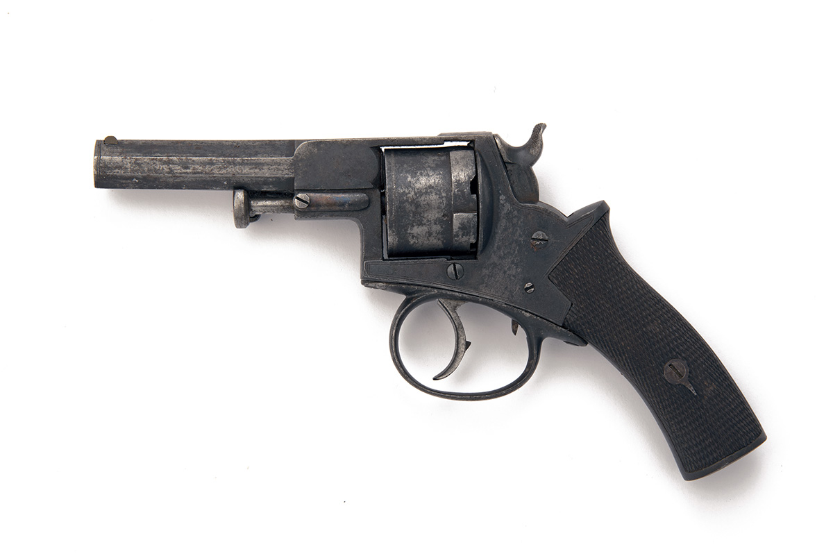 A .320 RIMFIRE DOUBLE-ACTION OVER-COAT REVOLVER, UNSIGNED, serial no. 1627, circa 1865, with - Image 2 of 2