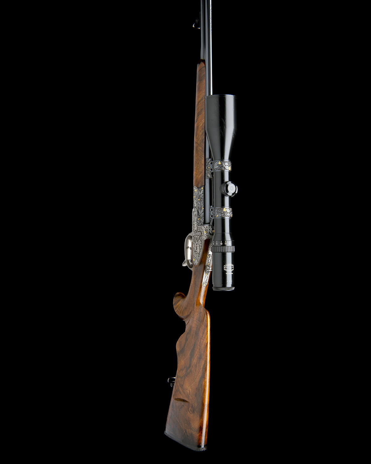 H. SCHEIRING AN 8X57RS / 5.6X50R MAG. JAEGER PATENT SIDEPLATED OVER AND UNDER PUSH-FORWARD - Image 11 of 12