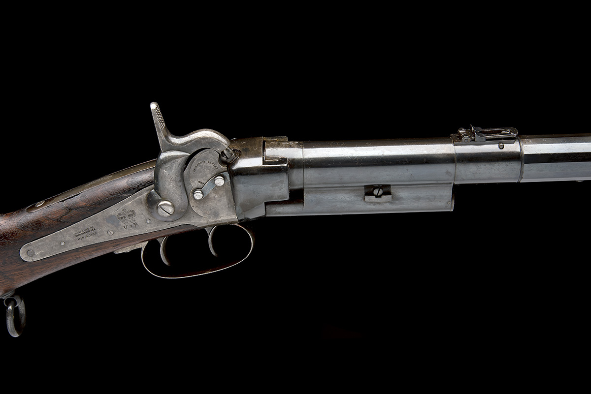 MASSACHUSETTS ARMS, USA A .54 CAPPING BREECH-LOADING CARBINE, MODEL 'GREENE'S PATENT BRITISH ISSUE', - Image 8 of 8