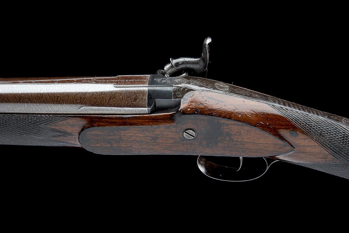 BENTLEY & PLAYFAIR , BIRMINGHAM A GOOD 6-BORE PERCUSSION SINGLE-BARRELLED LIVE PIGEON GUN, no - Image 4 of 7