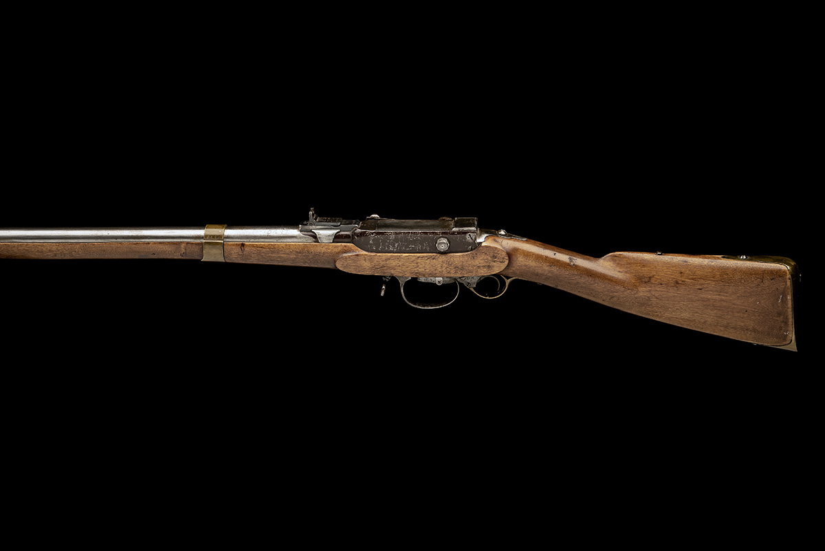 A RARE 17.5mm PERCUSSION BREECH-LOADING SERVICE-RIFLE, MODEL 'NORWEGIAN KAMMERLADER', serial no. - Image 2 of 10