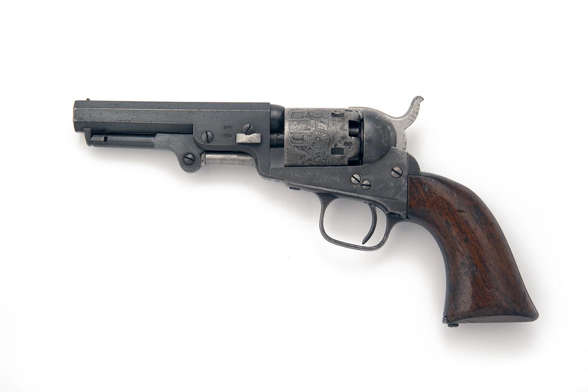 COLT, LONDON A .31 PERCUSSION FIVE-SHOT REVOLVER, MODEL 'COLT'S LONDON POCKET', serial no. 3237, for - Image 2 of 3