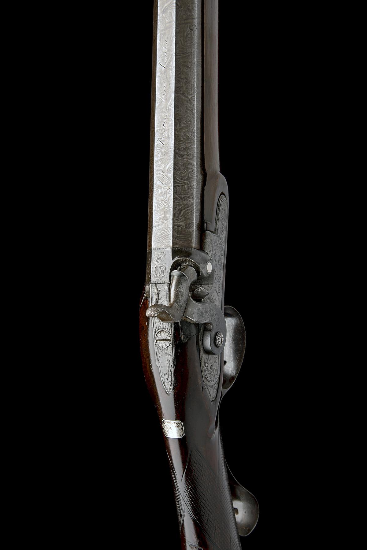 SMITH, LONDON A 12-BORE PERCUSSION SINGLE-BARRELLED SPORTING-GUN, no visible serial number, circa - Image 6 of 8