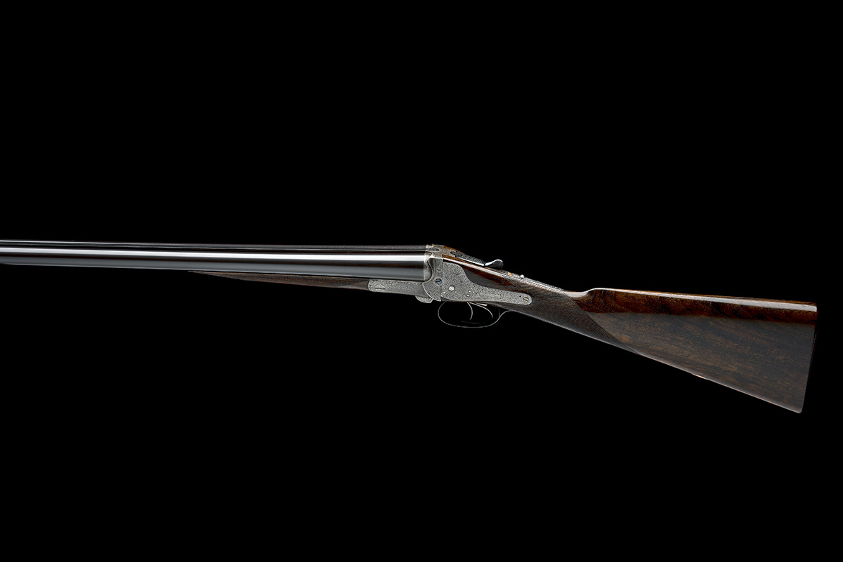 FREDc. T. BAKER A 12-BORE NEEDHAM 1874 PATENT HAMMERLESS SIDELOCK EJECTOR, serial no. 6749, circa - Image 2 of 11