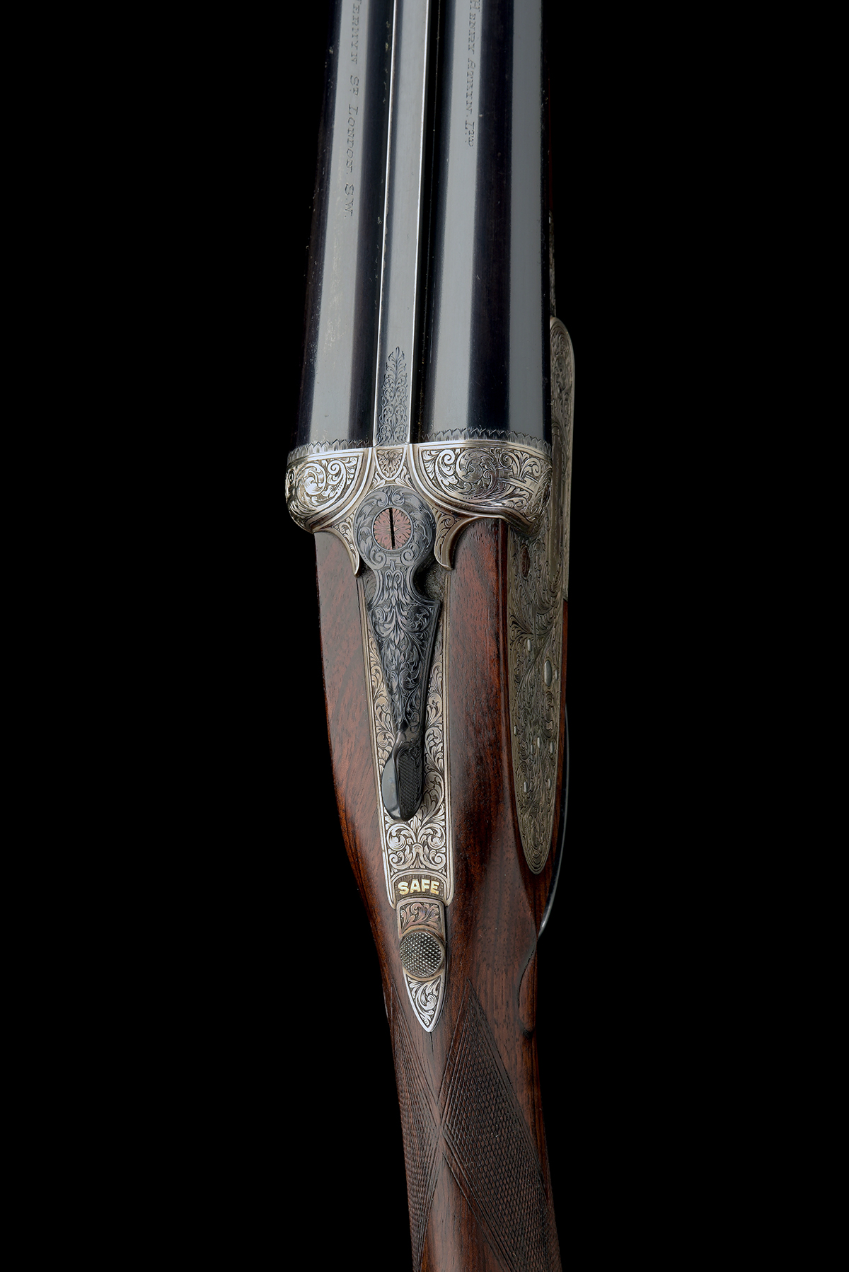 FORMERLY THE PROPERTY OF GOUGH THOMAS HENRY ATKIN A FINE, KELL-ENGRAVED 12-BORE SPRING-OPENING - Image 4 of 13