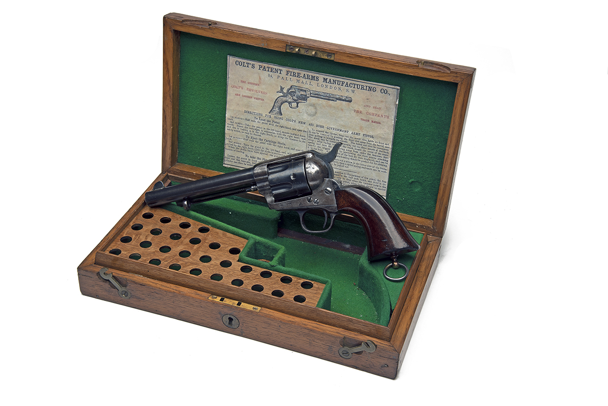 COLT, USA A CASED .450 (BOXER) SINGLE-ACTION REVOLVER, MODEL '1873 SINGLE-ACTION ARMY', serial no.