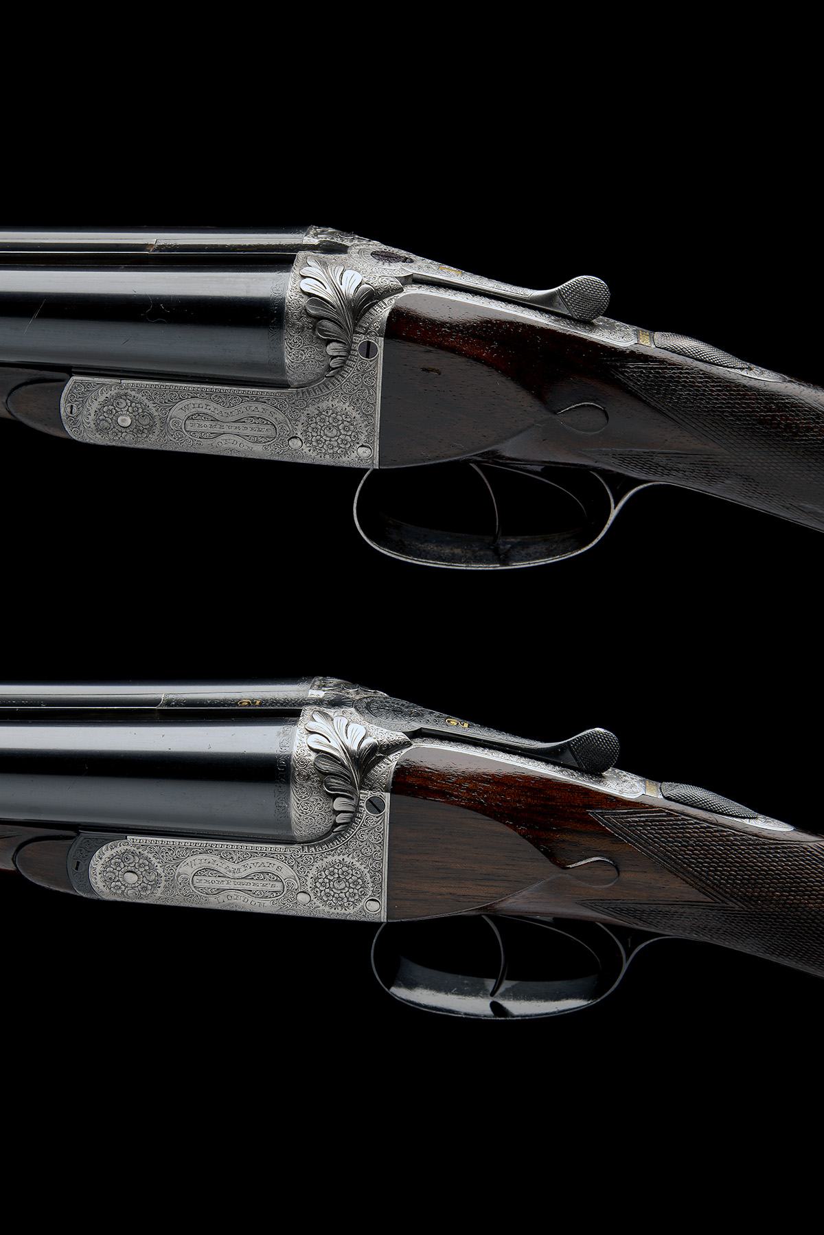WILLIAM EVANS (FROM PURDEY'S) A PAIR OF 12-BORE BOXLOCK EJECTORS, serial no. 5433 / 4, for 1901, - Image 4 of 11