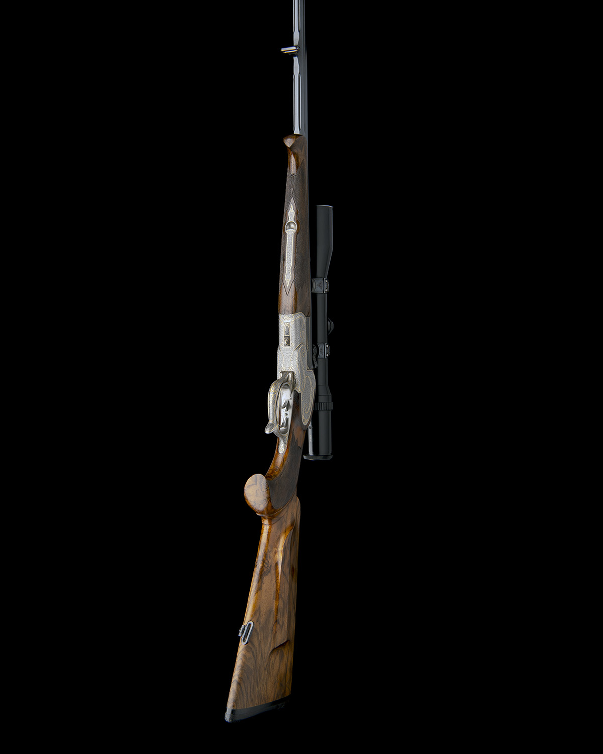 H. SCHEIRING A .300 WIN. MAG. JAEGER PATENT SINGLE-BARRELLED SIDEPLATED PUSH-FORWARD UNDERLEVER - Image 7 of 13
