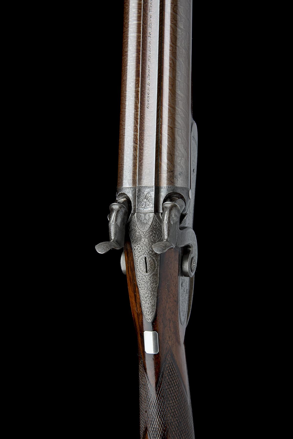 G & J DEAN, LONDON A FINE 16-BORE PERCUSSION DOUBLE-BARRELLED SPORTING-GUN, serial no. 6201, circa - Image 5 of 8