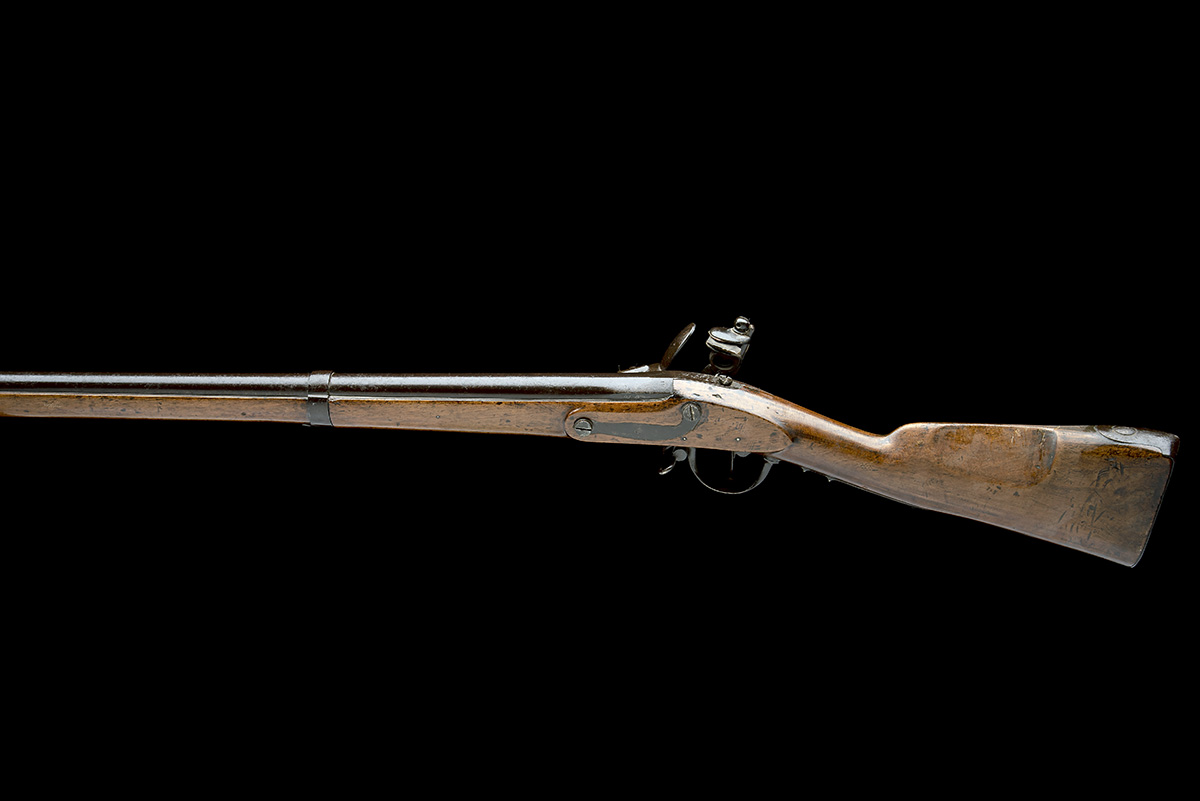 A GOOD .69 FLINTLOCK MUSKET, UNSIGNED, MODEL 'BELGIAN M1815 CHARLEVILLE', serial no. M2178, dated - Image 2 of 8
