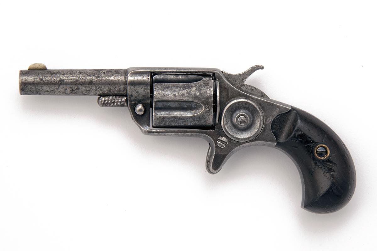COLT, USA A .30 (RIMFIRE) FIVE-SHOT VEST-REVOLVER, MODEL 'NEW-LINE', serial no. 9695, for 1876, with - Image 2 of 2