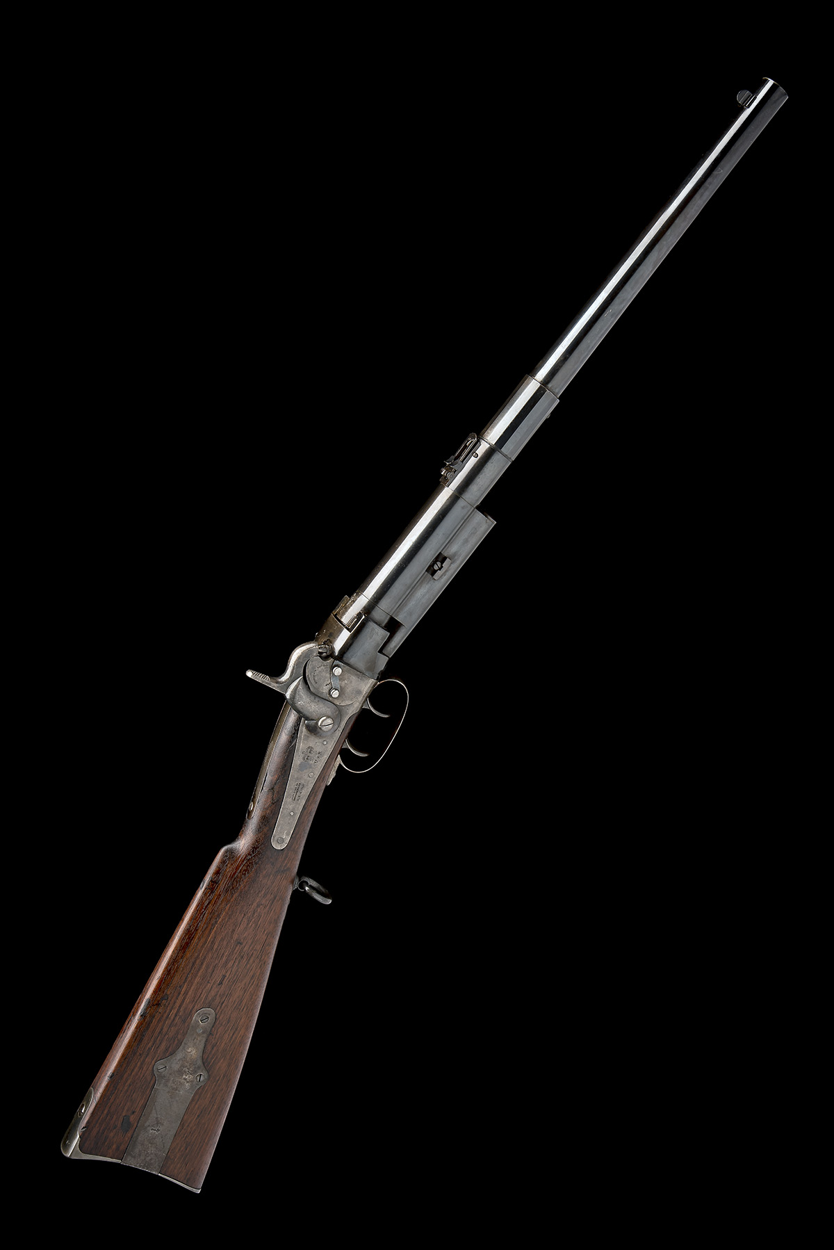 MASSACHUSETTS ARMS, USA A .54 CAPPING BREECH-LOADING CARBINE, MODEL 'GREENE'S PATENT BRITISH ISSUE',
