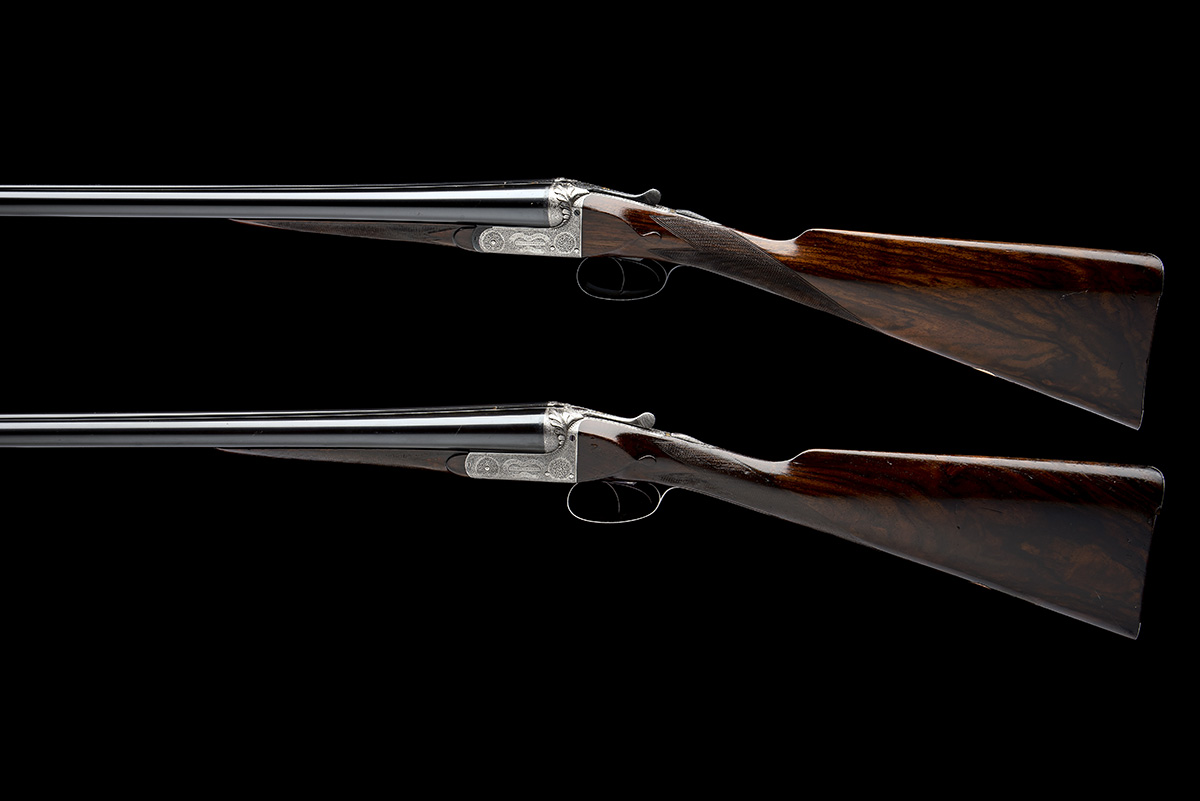 WILLIAM EVANS (FROM PURDEY'S) A PAIR OF 12-BORE BOXLOCK EJECTORS, serial no. 5433 / 4, for 1901, - Image 2 of 11