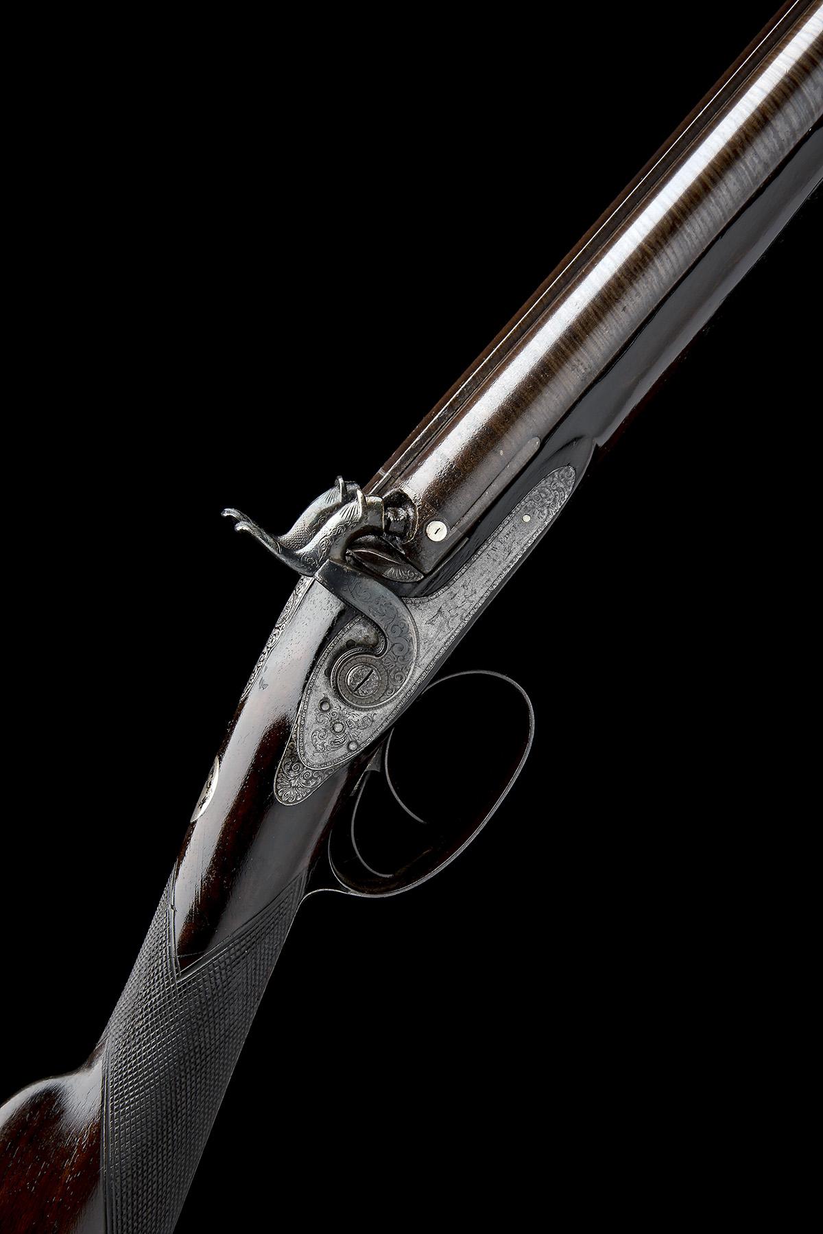 J.W. EDGE, MANCHESTER A 14-BORE PERCUSSION DOUBLE-BARRELLED SPORTING-GUN, serial no. 1350, circa
