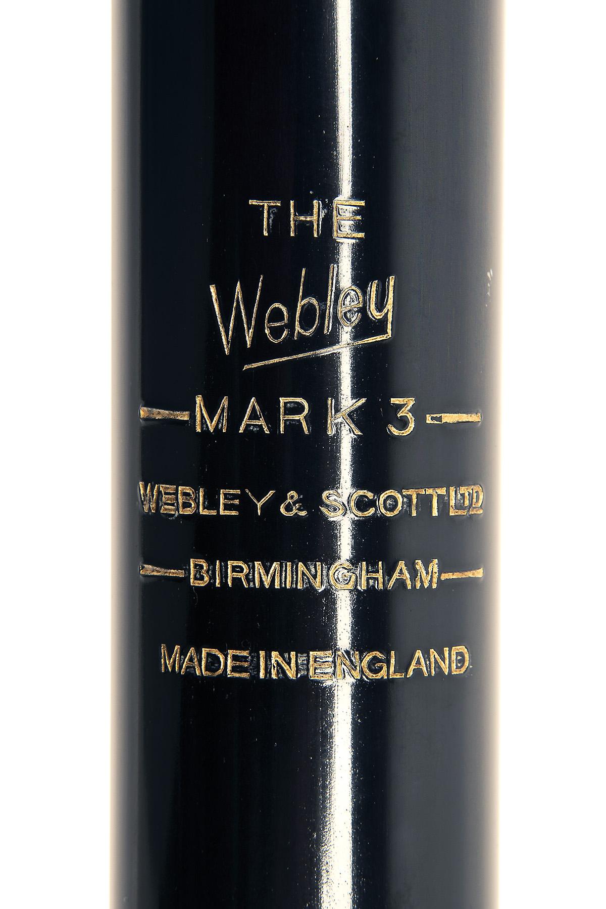 WEBLEY & SCOTT, BIRMINGHAM A SCARCE BOXED .22 UNDER-LEVER AIR-RIFLE, MODEL 'MK3 TRANSITIONAL', - Image 3 of 4