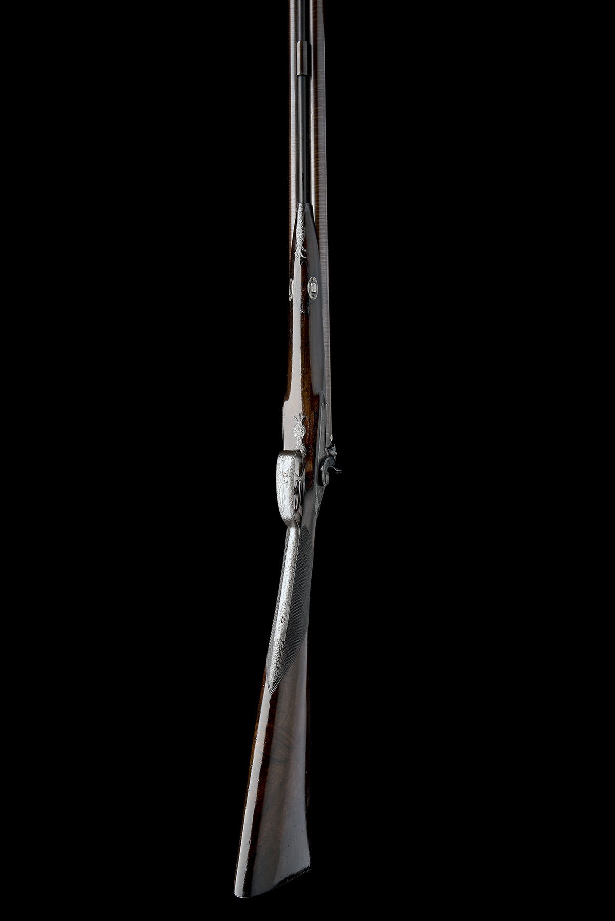 J.W. EDGE, MANCHESTER A 14-BORE PERCUSSION DOUBLE-BARRELLED SPORTING-GUN, serial no. 1350, circa - Image 5 of 8