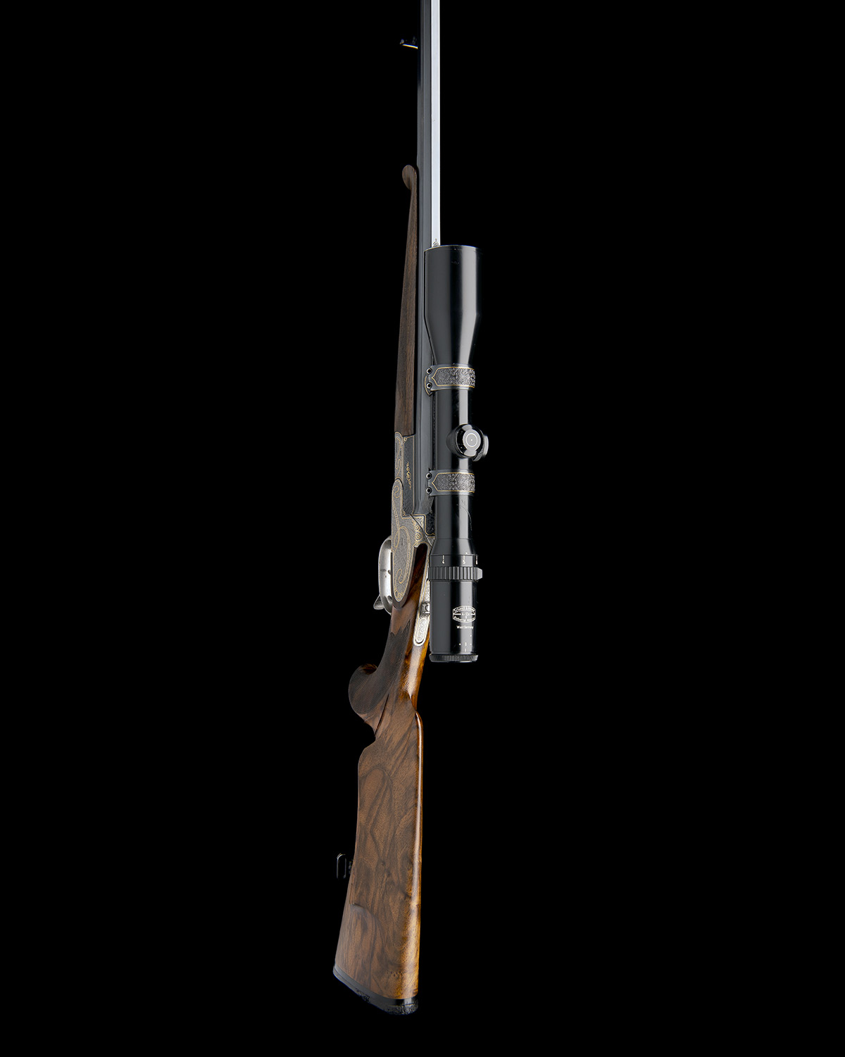 H. SCHEIRING A .300 WIN. MAG. JAEGER PATENT SINGLE-BARRELLED SIDEPLATED PUSH-FORWARD UNDERLEVER - Image 6 of 13