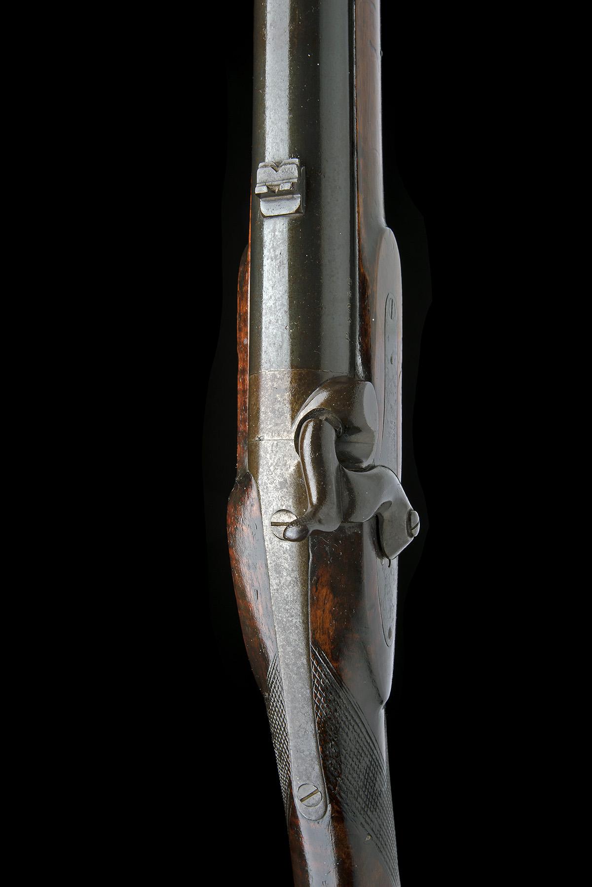 C.G. BALES, DURBAN, SOUTH AFRICA A RARE 4-BORE PERCUSSION RIFLED SHOT & BALL GUN FOR DANGEROUS GAME, - Image 6 of 10
