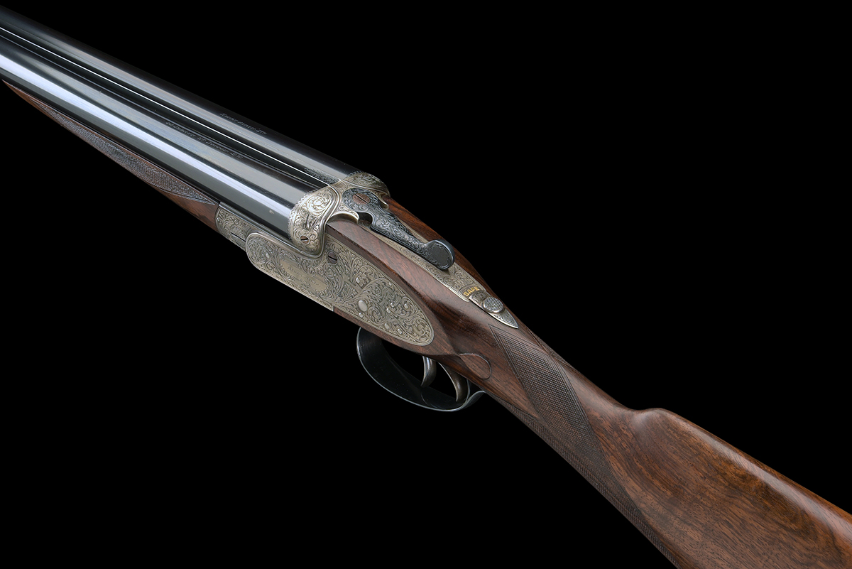 FORMERLY THE PROPERTY OF GOUGH THOMAS HENRY ATKIN A FINE, KELL-ENGRAVED 12-BORE SPRING-OPENING - Image 8 of 13