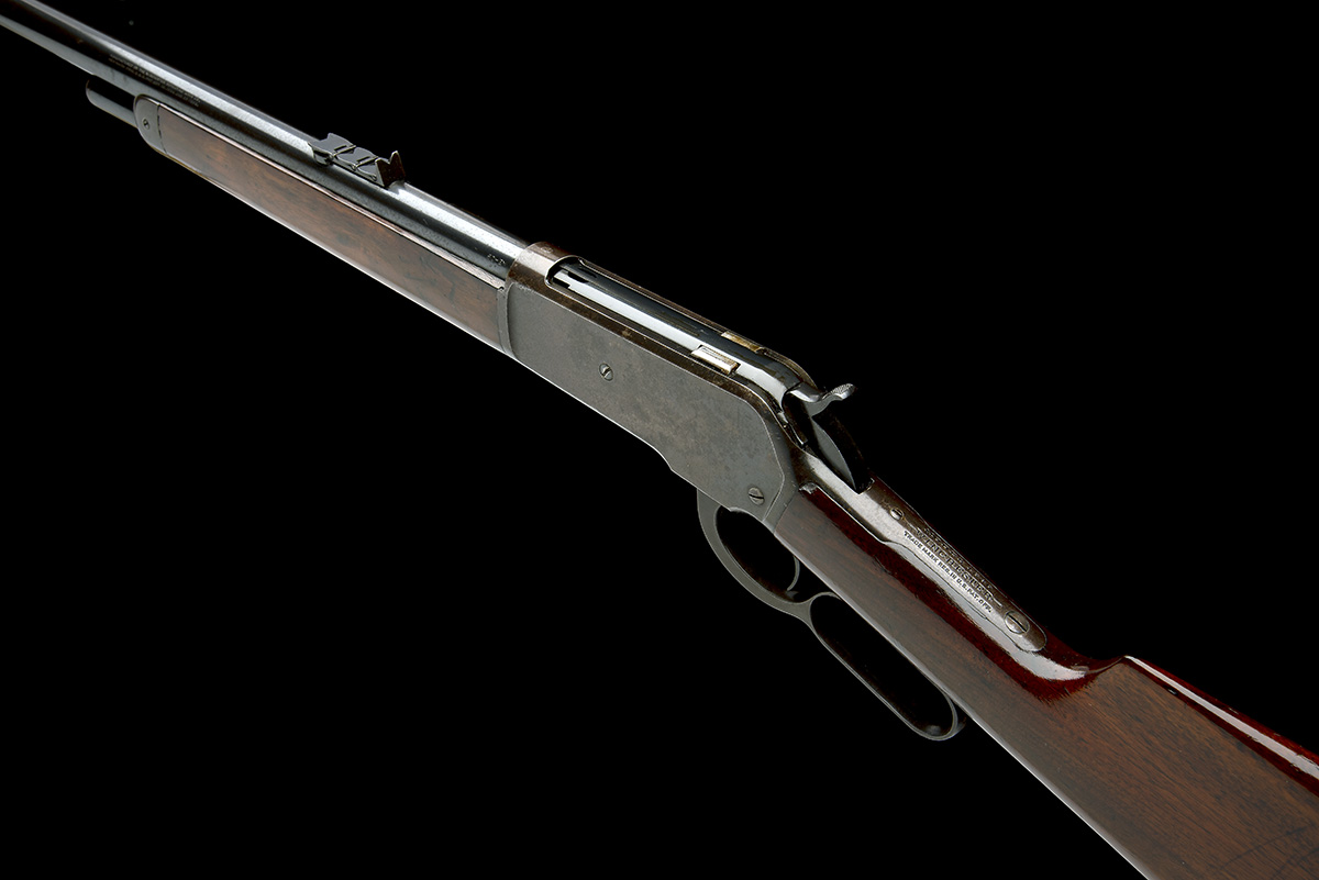 WINCHESTER REPEATING ARMS, USA A 50-110 (WCF) LEVER-ACTION SPORTING-RIFLE, MODEL 'ENGLISH MODEL - Image 9 of 9