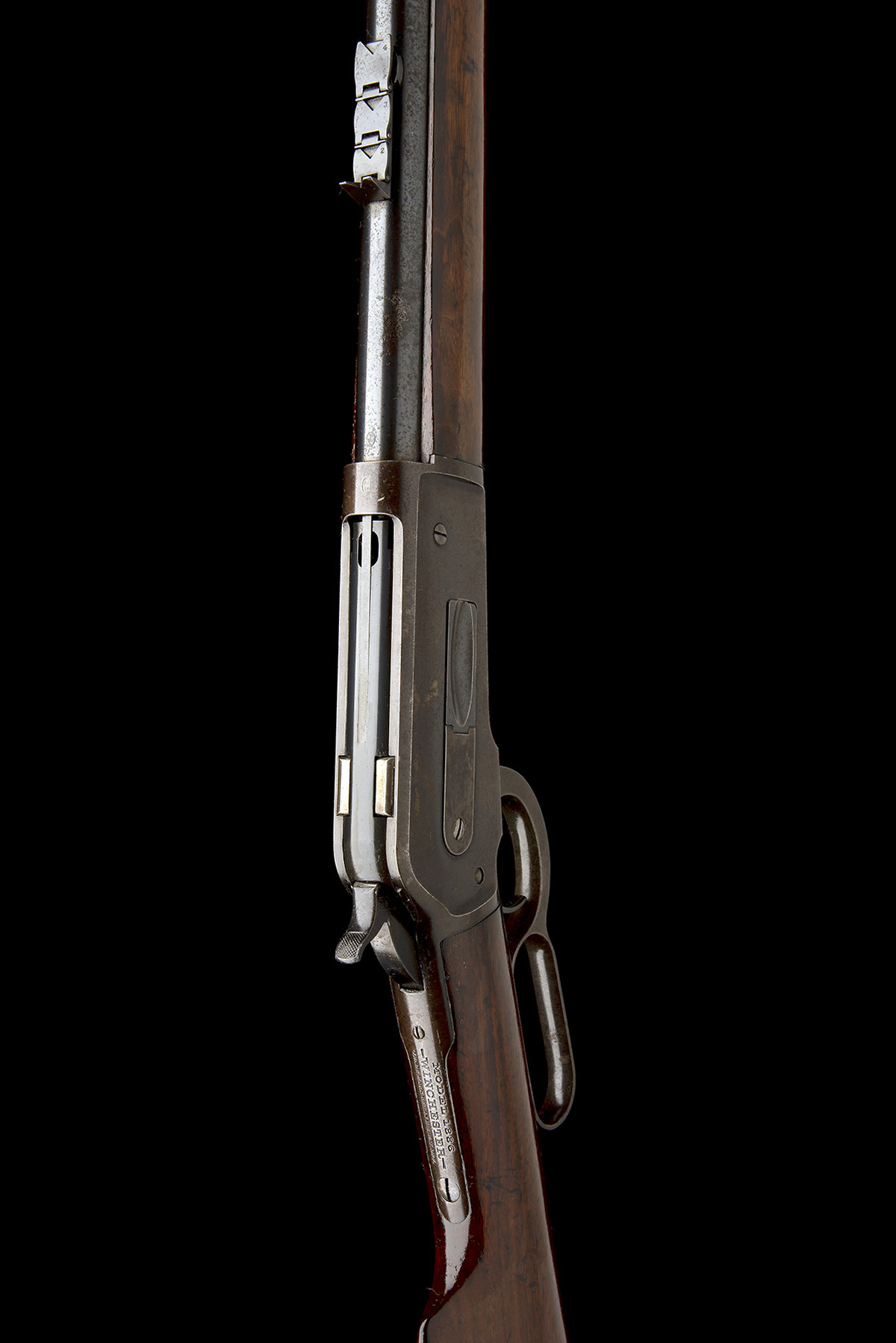 WINCHESTER REPEATING ARMS, USA A 50-110 (WCF) LEVER-ACTION SPORTING-RIFLE, MODEL 'ENGLISH MODEL - Image 4 of 9