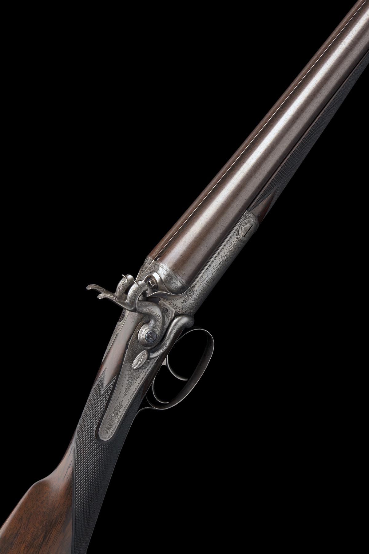 STEPHEN GRANT A 12-BORE 1871 PATENT SIDELEVER HAMMERGUN, serial no. 4419, for 1875, 30in. nitro