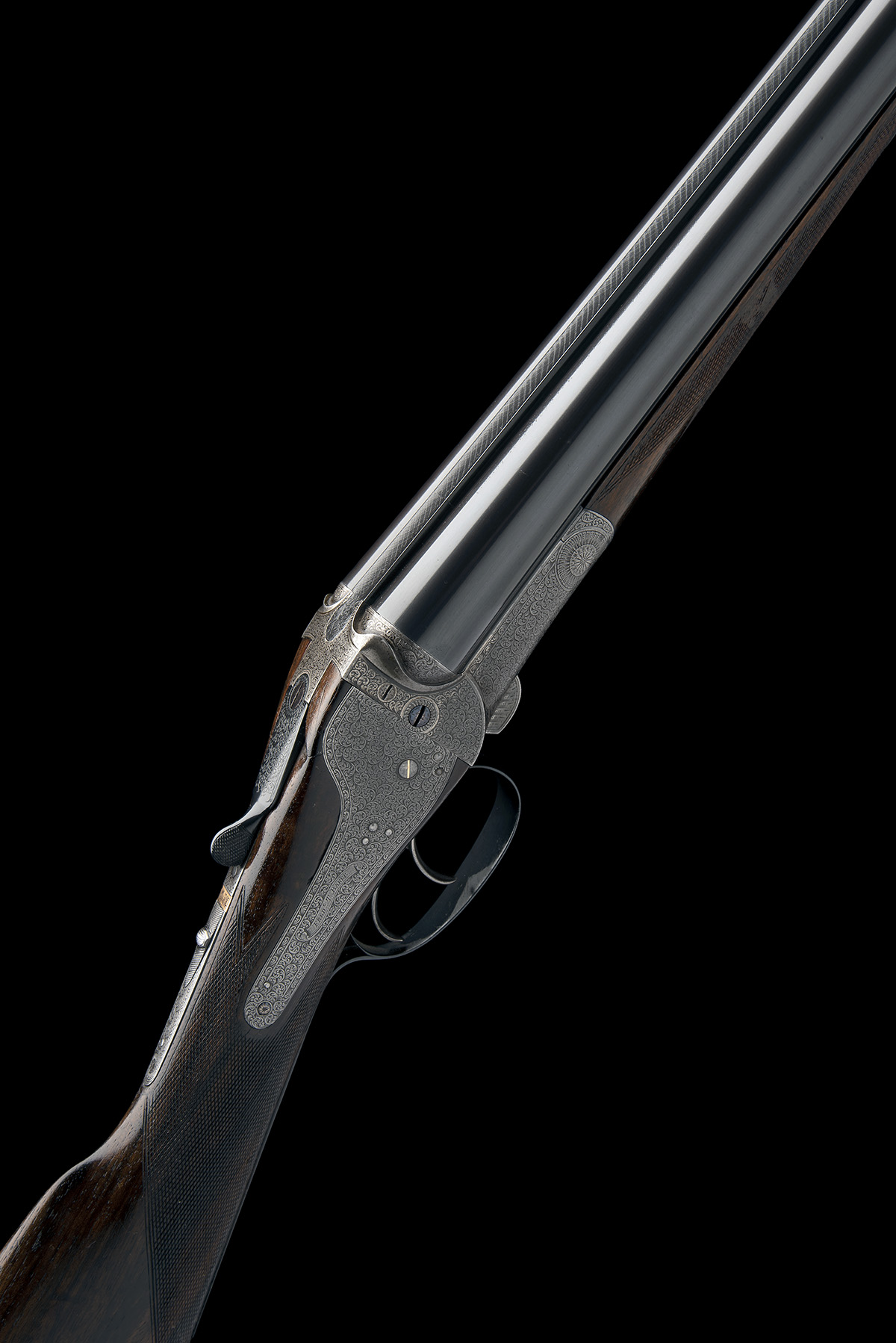 FREDc. T. BAKER A 12-BORE NEEDHAM 1874 PATENT HAMMERLESS SIDELOCK EJECTOR, serial no. 6749, circa