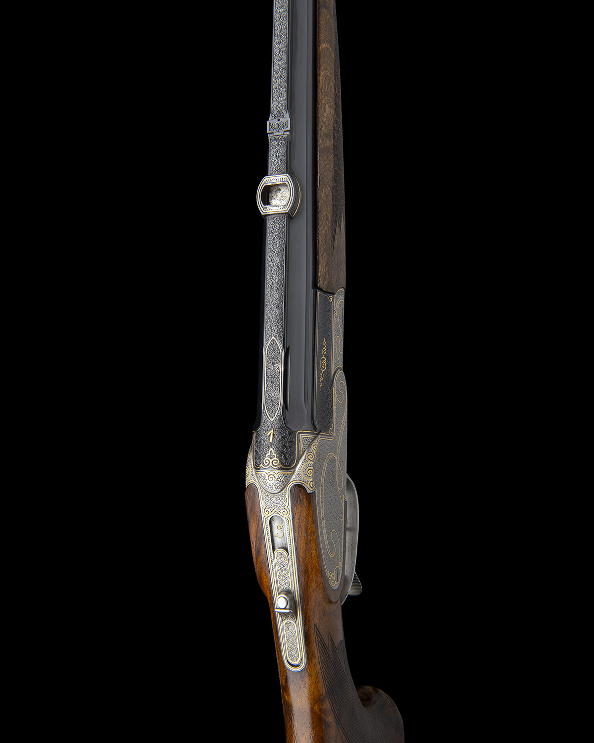 H. SCHEIRING A .300 WIN. MAG. JAEGER PATENT SINGLE-BARRELLED SIDEPLATED PUSH-FORWARD UNDERLEVER - Image 12 of 13